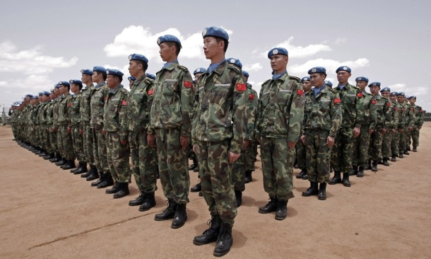 Chinese engineers serving with UNAMID in Darfur, Sudan. UN Photo/Stuart Price.