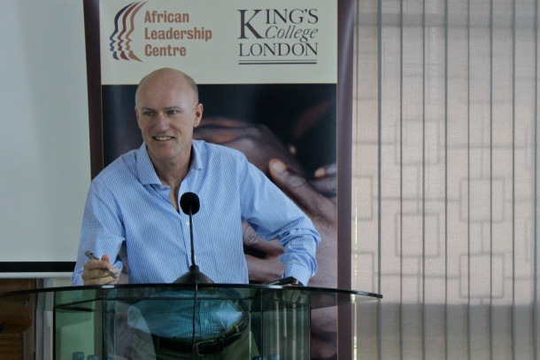 Dylan Hendrickson speaking at a Conference in Kenya, June, 2014. Photo: APN/ Dagan Rossini (CC 2.0)
