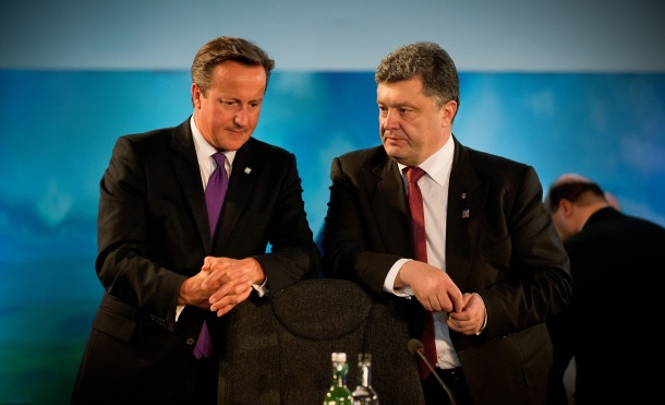 David Cameron with President Poroshenko of Ukraine at the NATO Summit in Wales, September 2014. Photo: Paul Shaw / Crown copyright (CC)