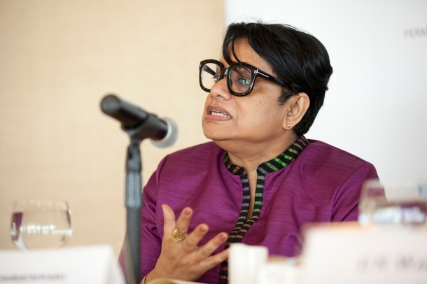Radhika Coomaraswamy, lead author of the Global Study on the Implementation of UNSCR 1325