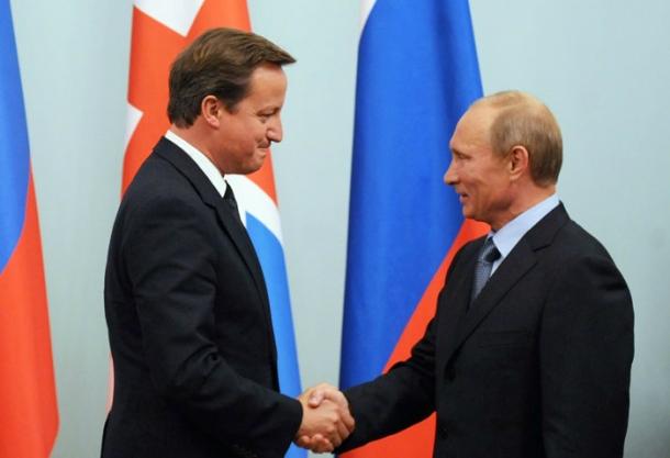 David Cameron meets  Vladimir Putin in Moscow, September 2011. PA copyright (CC 2.0)