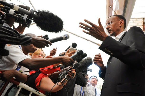 President Paul Kagame on voting day, August 2010. Photo: Paul Kagame (published under fair use policy for intellectual non-commercial purposes)