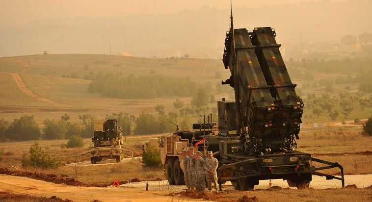 NATO-backed Patriot missile defence systems set up in Gaziantep, Turkey, February 4, 2013. https://commons.wikimedia.org/wiki/File:U-s-service-members-stand-by-a-patriot-missile-battery-in-gaziantep-turkey.jpg